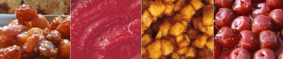 fruits macérés purée de fruit cherry rocher distillerie du perigord